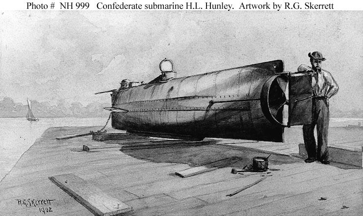 HL Hunley Confederate Submarine