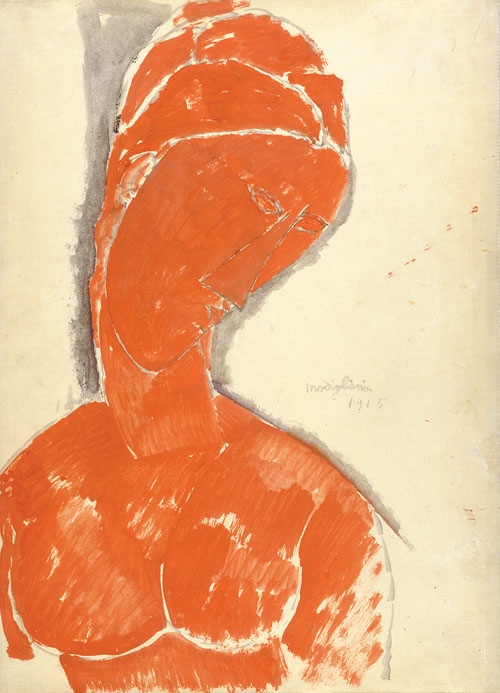 Portait In Red by Amedeo Modigliani