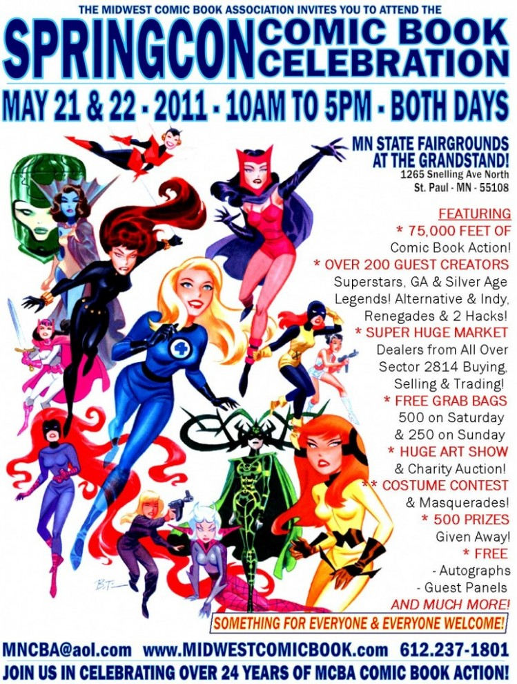 SpringCon Comic Book Convention Poster