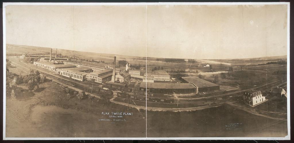 George R. Lawrence Photo: Flax Twine Plant - International Harvester - St. Paul, Minnesota 1907